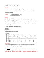 M&M lab - M&Ms and the Scientific Method Objective Introduce the ...
