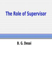 Role of Supervisor.ppt