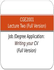 Lecture 2 Writing a CV  Full Version.pptx