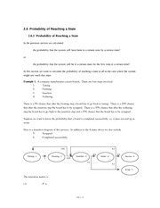 2.6.1 Probability of Reaching a State
