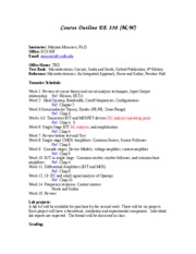 EE330 Course Outline