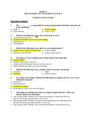 CH 5 Student Study Guide