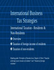 International Tax - Residents and Non-residents-2