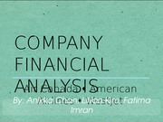 Compartive Financial Analysis