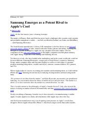 3.Samsung Challenges Apple's Cool Factor