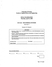 ECE462 Winter Exam2005