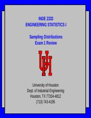 2333-160920 - sampling distributions and exam 1 review