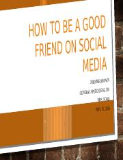 How to be a good friend on Social