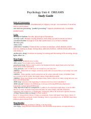 KAITLYNN BURGNER - Unit 4 psych Dreams study guide.doc.docx