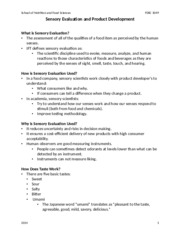 Sensory Evaluation and Product Development Student Notes 2014.doc