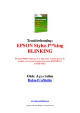 Troubleshooting Epson Blink