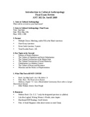 ant 302 final review-outline