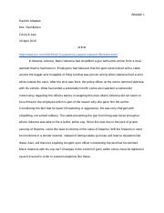 Crime and Law Summary Assignment 5