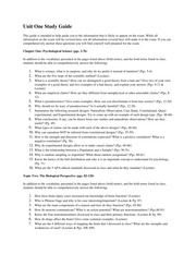 Unit One Study Guide _ PSY
