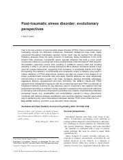 post traumatic stress disorder evolutionary perspectives.pdf