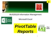 w5 tutorial - MS Excel PivotTable reports