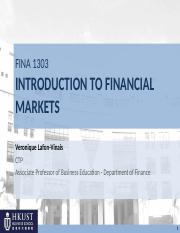 01) FINA1303_Fall 16_ Intro and overview_12 Sept 16