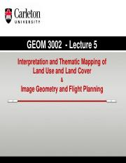 GEOM 3002_L5_2015_LULC Classification_Geom and Flight Planning