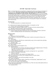 rtv3007 exam #1 study guide 2014