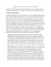 Literary Analysis Essays and Research Paper(4)