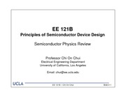 EE 121b - 2 - Semiconductor Physics Review