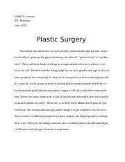 eng plastic surgery position paper plastic surgery position 8 pages plastic surgery