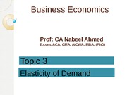 Lecture 3 - Elasticity of Demand & Supply - Copy