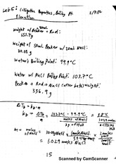 Colligative properties lab notes