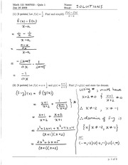 Math 121 Quiz 1 Version 2 Solutions