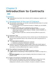 Chanpter 9- Introduction to Contracts.docx
