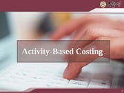 189550_Activity based Costing