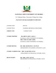 Ent 330 Bus Forecasting Pdf National Open University Of Nigeria