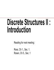 L00 Introduction Pdf Discrete Structures Ii Introduction Reading