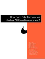Corporate Citizenship Program.Nike