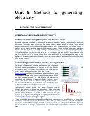 Unit 6 Methods for generating electricity.doc