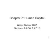 Lecture 7  Human Capital vs. Signaling PDF