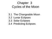 Chap 3 the Moon web