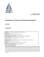 Finance and Financial Institutions Outline (2).doc