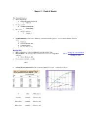Chapter 13 - Chemical Kinematics
