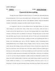 Financial decision essay on price of home.docx