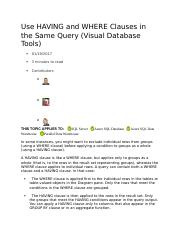 Use HAVING and WHERE Clauses in the Same Query.docx