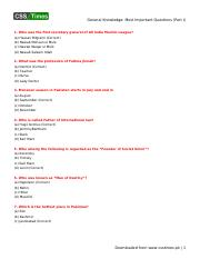 General Knowledge_ Most Important Questions (Part I).pdf