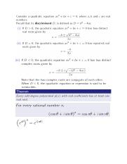 MH1810 complex numbers notes