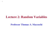 EMSE 208 Lecture 2 - Random Variables