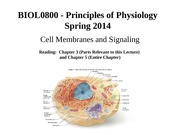 04 Cell Membranes and Signaling