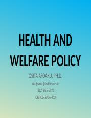 HEALTH AND WELFARE POLICY 2.pptx