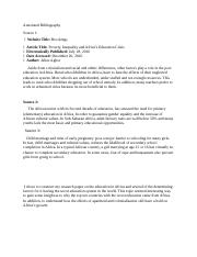Annotated Bibliography (1)