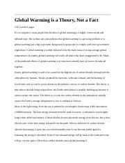 Global Warming is a Theory.docx