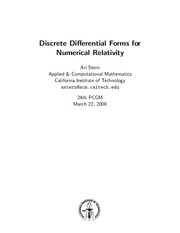 Discrete Differential Forms for Numerical Relativity