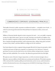 Commonsense Corporate Governance Principles